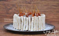 Миндальный торт с шоколадным муссом, безе и карамелью | Кулинарные рецепты от «Едим дома!»