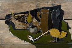 Georges Braque, FRUIT, PITCHER AND PIPE, 1924, Oil on wood, 42 x 60 cm