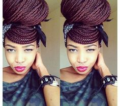 Vivacious Box Braids Updo Hairstyles 2014 | exquisite box braids bun