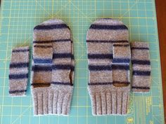 Tutorial: felted mittens from recycled wool sweaters