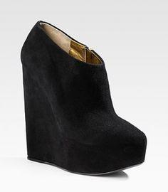 Black Suede Winter Booties