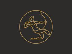 Artemis designed by Daniel Führer. Connect with them on Dribbble; Tatouage Artemis, Artemis Tattoo, Artemis Art, Artemis Goddess, Logo Design Inspiration, Icon Design, Tattoo Inspiration, Sagittarius Tattoo Designs, Sagittarius Symbol