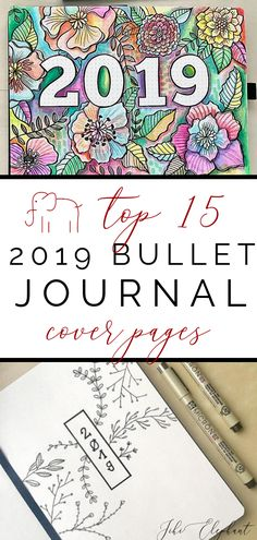 Top 15 2019 Bullet Journal Cover Pages Over a week into 2019 and I still do not have any idea what to do for my hello 2019 cover page. I have been researching cover page ideas and wanted to share my top 15 favorite cover pages for Bullet Journal Travel, Bullet Journal Font, Bullet Journal Cover Page, Bullet Journal Printables, Bullet Journal Themes, Journal Covers, Bullet Journal Inspiration, Journal Pages, Bullet Journals
