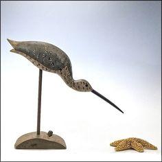 Traditional Shorebird Carving by Stevens - Shore Bird Carving - Folk Art - Primitives from Oh.