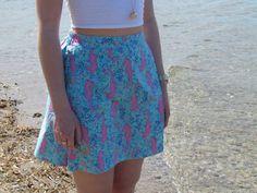 Sassy Seahorses Fold Skirt by LighthousesAndLilac on Etsy Preppy Fashion, Preppy Style, Seahorses, Lighthouses, Sassy, Lilac, High Waisted Skirt, Trending Outfits, Skirts