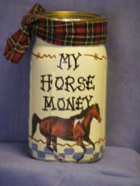 gifts for teens money jars as Personalized in USA with your name or design your own hand painted money jars banks with coin slot Made in America. Horse Gifts, Gifts For Horse Lovers, Horse Camp, My Horse, Horse Gear, Horse Riding, Clydesdale, Cute Crafts, Crafts For Kids