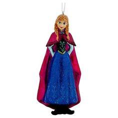 Disney Hallmark Frozen Anna Glass Ornament Collectible Christmas Tree Decor
