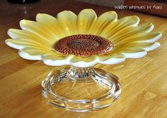 Sunflower Cupcake Stand / Jewelry Stand / by GardenWhimsiesByMary, $20.00