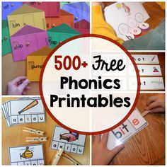 We love learning phonics with hands-on activities and games!  Click on each image to get to the blog post, where you can download the activity for FREE.
