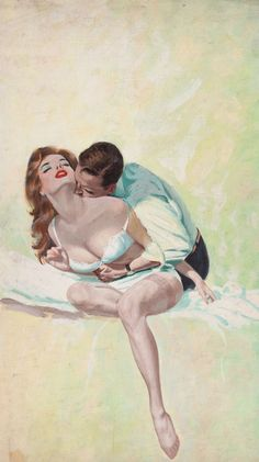 HARRY BARTON (American, b. 1896). Squeeze Play, paperback cover, 1961 (1678×3000)
