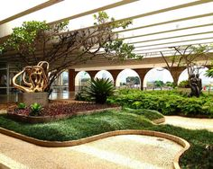 O jardim suspenso do Palácio do Itamaraty em Brasília