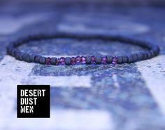 Garnet bracelet for men, Mens garnet bracelet, Mens bracelet, Garnet bracelet, Garnet, Rhodolite garnet, Garnet by DESERTDUSTMEN on Etsy