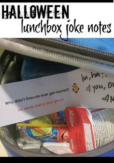 These are some super-cute, totally silly halloween joke lunchbox notes that will make your kids smile! It's a free printable of halloween lunchbox joke notes. I love adding lunchbox notes to my kids lunches to give them something special while they eat lunch at school! #teachmama #lunchboxnotes #lunch #lunchboxlovenotes #halloween #kidsjokes #jokesforkids #schoollunch #halloweenfun #kids #backtoschool #bts