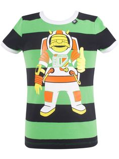 "#Danefae T-Shirt ""Astro Erik"" - € 30,75 - Wikimo Kindermode, Kinder Shirt, schwarz grün gestreift by Danefae Kind Mode, Pullover, Mens Tops, Fashion, Green Stripes, Spring Summer, Tops, Guys, Black"