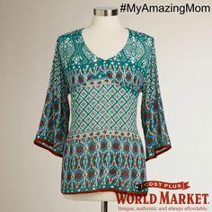 Teal Bianca Top Cost Plus World Market #myamazingmom #worldmarket