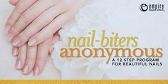 Nail-biters Anonymous Step program to beautiful nails ) Nail Biting Empire Beauty, Nail Biting, Healthy Nails, Beauty Hacks, Beauty Tips, Programming, Did You Know, Knowing You, Step Program