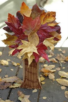 Thanksgiving & Autumn Art for Kids-Nature Craft, autumn tree