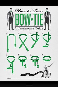 """How to tie a bow tie - because, """"Bow ties are cool."""""""