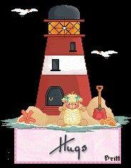 Hug by the lighthouse