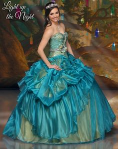 Disney Royal Ball Quinceanera Dress Tiana Style 41059