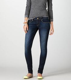 American Eagle Skinny Jean  PURE DARK INDIGO style  $39.95 regular price