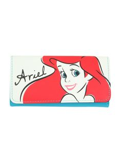 Disney The Little Mermaid Ariel Sketch Flap Wallet from Hot Topic