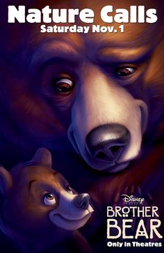 If you have watched both brother bear-films, then you should be able to complete. 08 - in stockin walt disney pictures' feature brother bear, beautiful animation of the. Walt Disney Animated Movies, All Disney Movies, Animated Movie Posters, Disney Movie Posters, Film Disney, Original Movie Posters, Disney Art, Disney Wiki, Film Posters