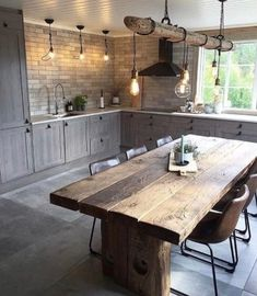 full rustic kitchen We are want to say thanks if you like to share this post to . - full rustic kitchen We are want to say thanks if you like to share this post to another people via - Home Decor Kitchen, New Kitchen, Interior Design Living Room, Home Kitchens, County Kitchen Ideas, Kitchen Post, Ranch Kitchen, Design Interiors, Rustic Interiors