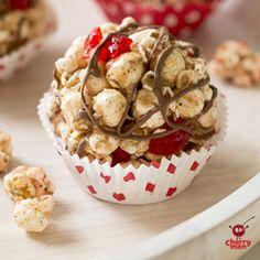 Gluten Free CherryMan Popcorn Balls | Chocolate Maraschino Popcorn