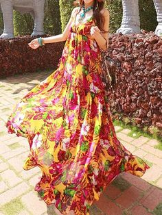 Ericdress Spaghetti Strap Printing Maximum Style Dress Maximum Style