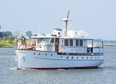 This is one classic wooden boat that's well-maintained and in good shape.