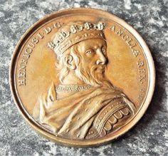 King Henry I Jean Dassier Bronze Death Medallion / Medal