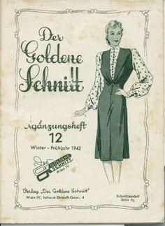 Vintage Lutterloh Sewing Patterns 0012 winter spring 1941 1942 Sewing Patterns Dressmaking
