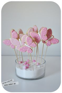 butterfly cookies - bake the skewers into the cookies?