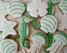 Nautical Sea Foam Cookies EDITOR'S TIP: Substitute dark chocolate for white chocolate for a more decadent feel, or use both. Use GF sugar cookie recipe.