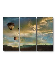 Look what I found on #zulily! Sunset Gallery-Wrapped Canvas Set by Courtside Market #zulilyfinds