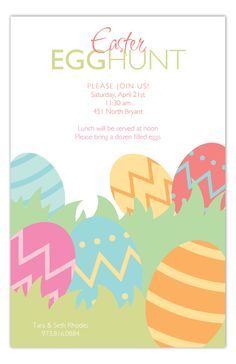 Happy Hunting Invitation #Easter