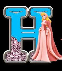 Oh my Alfabetos!: Alfabeto de Princesas Disney con fondo negro.