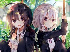 Anime Girl Neko, Anime Chibi, Anime Art Girl, Manga Anime, Anime Siblings, Anime Sisters, Anime Couples, Friend Anime, Anime Best Friends