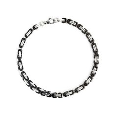 Douglas Bracelet  Show off those sexy wrists with this black and silver box chain bracelet. - Black & silver box chain