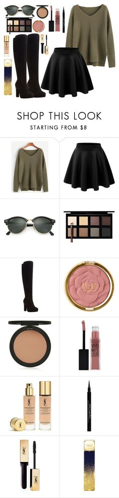 """""""Casual"""" by antonelica03 ❤ liked on Polyvore featuring LE3NO, Ray-Ban, Down to Earth, Dune, Milani, Topshop, Maybelline, Yves Saint Laurent, Givenchy and Michael Kors"""