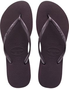 600d47f41acf Havaianas Slim Aubergine Flip Flop - Slim Aubergine havaianas look like the  color Eggplant. Not black but very close these Slim Havaianas are great for  ...