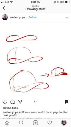 How to draw a capped hat #baseballgame