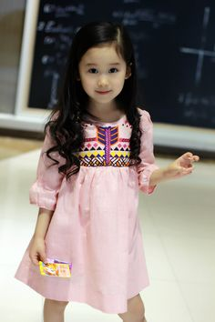 Find More Dresses Information about 2016 New Cute Baby Girls Embroider Cotton Linen Dress Ruffles Classic Vintage Western Dress Pink and Gray Color Casual Dress,High Quality dress cold,China dresse Suppliers, Cheap dress single from Everweekend Clothing Co.,Ltd on Aliexpress.com