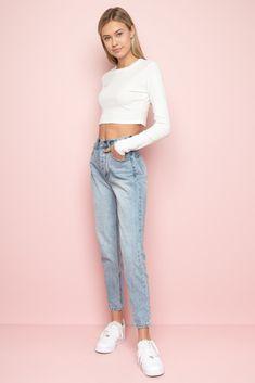 f3ad6cfbb2 Jane Denim Pants - Pants - Bottoms - Clothing Brandy Melville Outfits