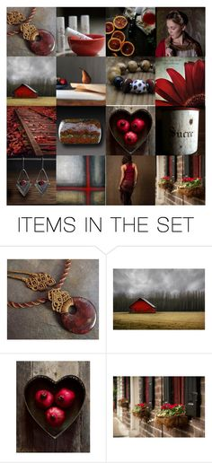 """""""Crimson Petals"""" by neferknots ❤ liked on Polyvore featuring art and rustic"""