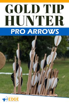 GOLD TIP HUNTER PRO ARROWS! Wooden hunting arrows, hunting arrow heads, best hunting arrows, how to make hunting arrows, hunting arrow tips, hunting arrow design, Arrow Hunting, archery hunting, archery hunting gear, archery hunting tips, arrows hunting guide, archery hunting tips, Archery target stand, archery range, archery hunting, archery quotes, archery equipment, archery women, archery backstop, archery photography, horse archery, archery arrows hunting. #arrowshunting