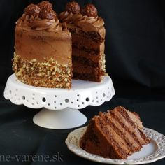 Recepty   Pečené-varené.sk Torta Ferrero Rocher, Salty Cake, Savoury Cake, Cake Mold, Chorizo, Goat Cheese, Clean Eating Snacks, Vanilla Cake, A Food