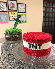 Diy Minecraft Birthday Party, Minecraft Party Decorations, 6th Birthday Parties, 8th Birthday, Minecraft Party Ideas, Minecraft Torte, Minecraft Pasta, Minecraft Houses, Minecraft Bedroom