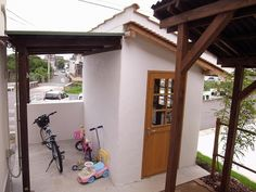 自転車の 自転車小屋 diy : 物置小屋もオリジナル。外部は ...